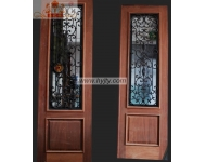 Wrought iron entry